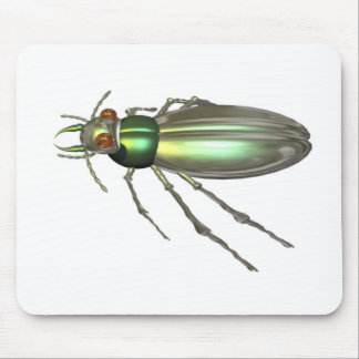 Valxart.com green Tiger Beetle gift design Mouse Pad