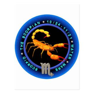 valxart com Scorpio zodiac logo Post Card