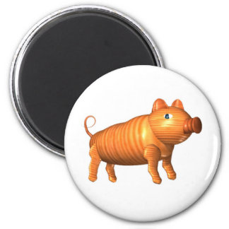 Valxart.com wood pig zodiac gifts 6 cm round magnet