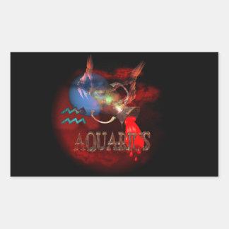 Valxart creepy zodiac born Aquarius Sticker