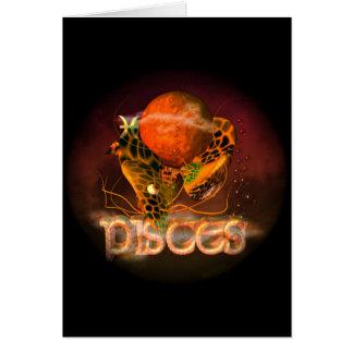 Valxart creepy zodiac born in Pisces Card