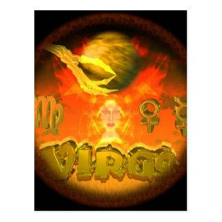 Valxart creepy zodiac Virgo Postcards
