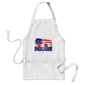 ValxArt Democratic USA flag donkey Aprons