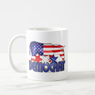 ValxArt Democratic USA flag donkey Basic White Mug