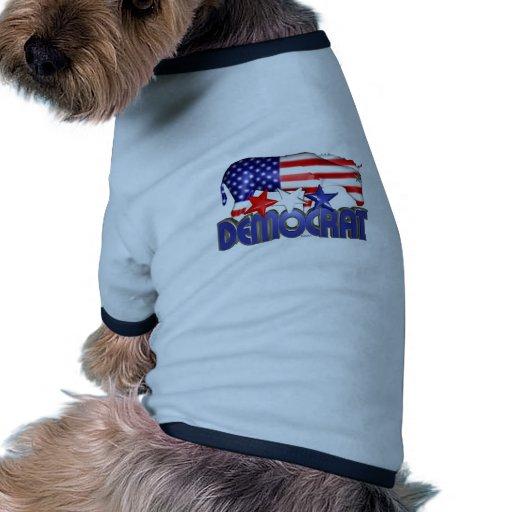 ValxArt Democratic USA flag donkey Dog T Shirt