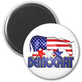 ValxArt Democratic USA flag donkey Fridge Magnet