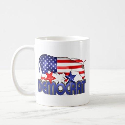 ValxArt Democratic USA flag donkey Coffee Mugs