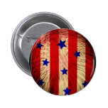 ValxArt fireworks flag abstract design Pinback Button