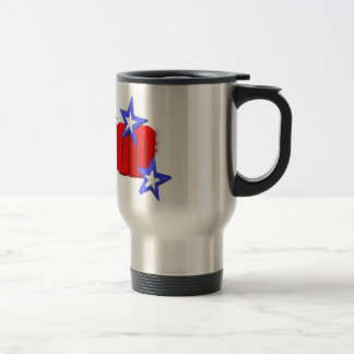 Valxart freedom stars logo stainless steel travel mug