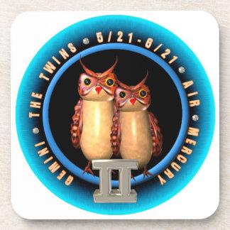 Valxart Gemini zodiac cork coaster set