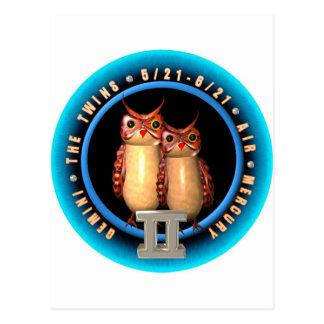 Valxart Gemini zodiac logo Post Cards