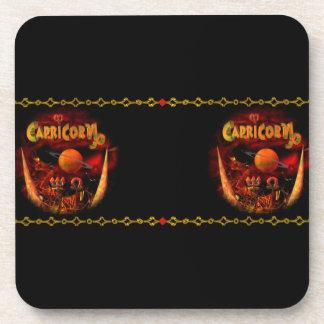 Valxart Gothic Capricorn  zodiac astrology Beverage Coaster