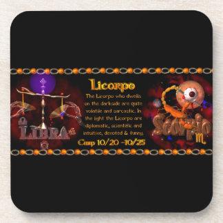 Valxart Gothic zodiac Libra Scorpio cusp Coaster