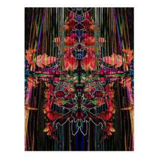 Valxart Harp Strings abstract Postcard