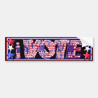 ValxArt  i Vote stars and stripes Bumper Sticker