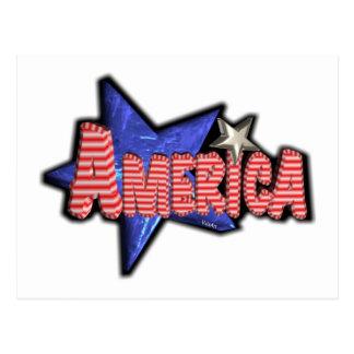 ValxArt partiotic USA AMERICA Postcard