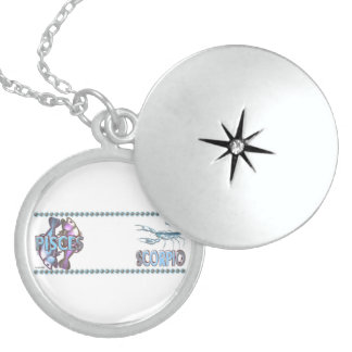 Valxart Pisces Scorpio astrology friendship Sterling Silver Necklace
