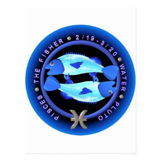 valxart Pisces zodiac logo Post Cards