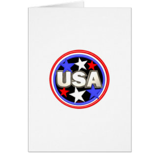 Valxart red , white and blue stars USA Greeting Card
