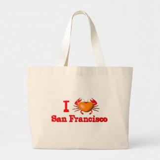 Valxart San Francisco events  crab designs Large Tote Bag
