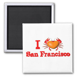 Valxart San Francisco events crab designs Fridge Magnet