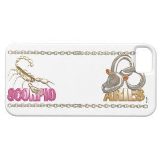 Valxart Scorpio Aries zodiac friendship iPhone 5 Cases