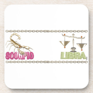Valxart Scorpio Libra zodiac friendship Drink Coasters