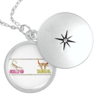 Valxart Scorpio Taurus zodiac friendship Sterling Silver Necklace