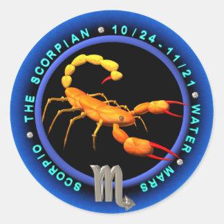 Valxart Scorpio zodiac logo Classic Round Sticker