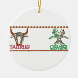 Valxart Taurus Gemini zodiac astrology friendship Christmas Ornament