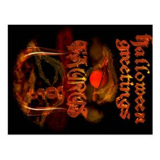 Valxart Taurus Halloween Postcard