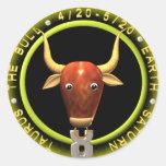 Valxart  Taurus zodiac logo Classic Round Sticker