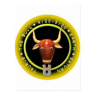 Valxart Taurus zodiac logo Postcard