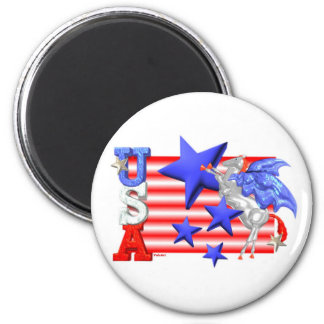 ValxArt USA FLYING HORSE 6 Cm Round Magnet