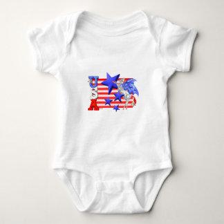 ValxArt USA FLYING HORSE Baby Bodysuit