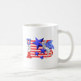 ValxArt USA FLYING HORSE, FLAG AND STARS Basic White Mug