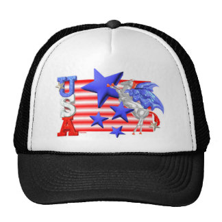 ValxArt USA Flying Horse flag and stars Cap