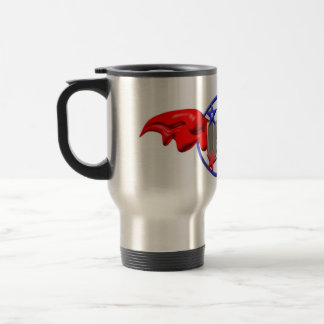 Valxart USA flying wings on silver travel mug