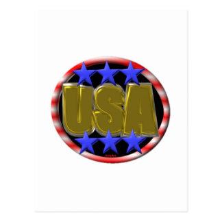 ValxArt USA GOLD Postcard