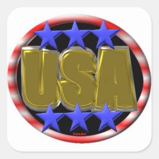 ValxArt USA GOLD Square Sticker
