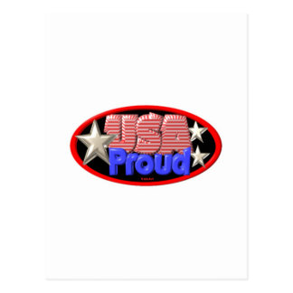 Valxart USA PROUD logo Postcard