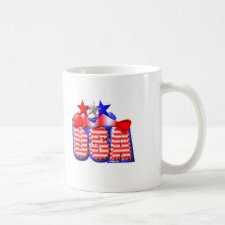 Valxart USA STAR RED,WHITE AND BLUE FISH Basic White Mug
