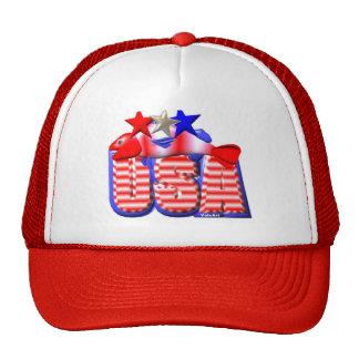 Valxart USA STAR RED,WHITE AND BLUE FISH Cap