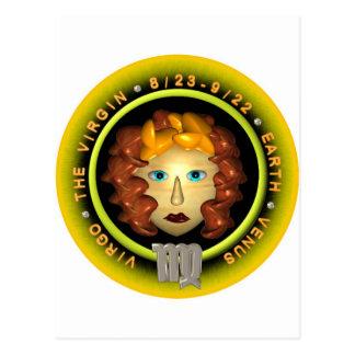 Valxart Virgo zodiac logo Post Card