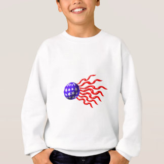 ValxArt wavey red,white and blue logo Sweatshirt