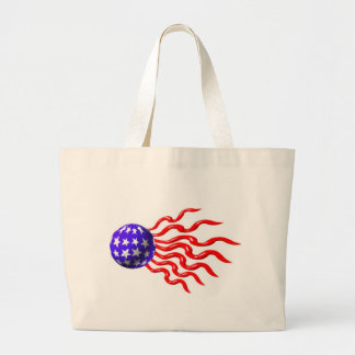 ValxArt wavey red,white and blue logo Jumbo Tote Bag