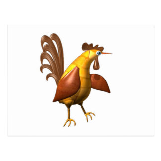 Valxart wood chicken rooster gifts postcard