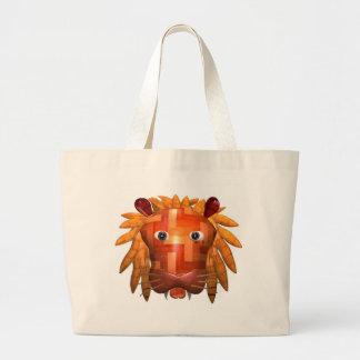 Valxart wood lion gifts jumbo tote bag