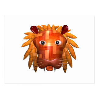 Valxart wood lion gifts post cards