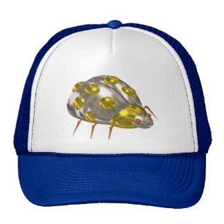 Valxart yellow chrome lady bug gift design cap
